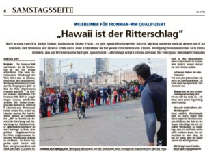 Paul Hopp: Weilheimer Tagblatt vom 23. Mai 2020 Hawaii ist der Ritterschlag